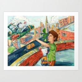 Space Venturer Art Print