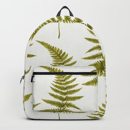 Green Watercolor Fern Pattern Backpack