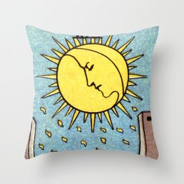 XVIII. The Moon Throw Pillow