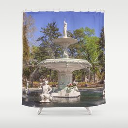 Forsyth Park Fountain Shower Curtain
