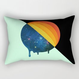 049 Cosmic retro ice cream roll melting Rectangular Pillow