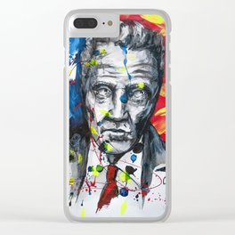 Christopher Walken Portrait painting illustration by #carographic Clear iPhone Case