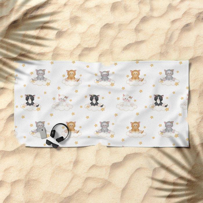 Cat Kitten Baby Girl Nursery Room Decor Beach Towel
