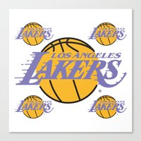 lakers Canvas Prints featuring Lakers by Dexter Gornez