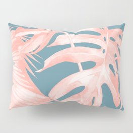 Island Love Millennial Pink on Teal Blue Pillow Sham