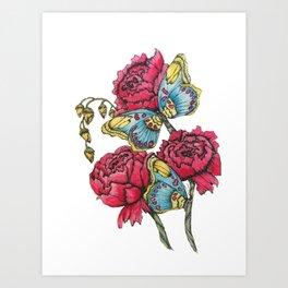 Color Flutter II Art Print