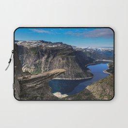 Trolltunga on a Blue Sky Day in Norway Laptop Sleeve