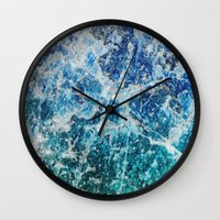 mineral Wall Clocks featuring MINERAL MAGIC by Catspaws