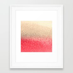GOLD CORAL Framed Art Print