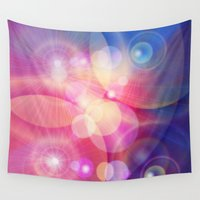 lights Wall Tapestries featuring lights by haroulita