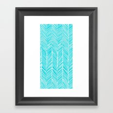 Freeform Arrows in turquoise Framed Art Print