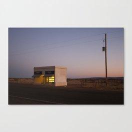 Outside Marfa at sunset Canvas Print