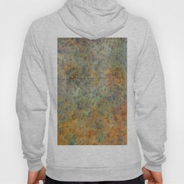 Blue and Copper Abstract Hoody