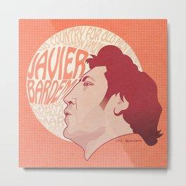 Javier Bardem Metal Print