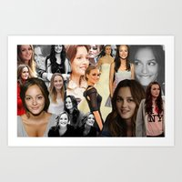 blair waldorf Art Prints featuring Leighton Meester / Blair Waldorf by Amara V