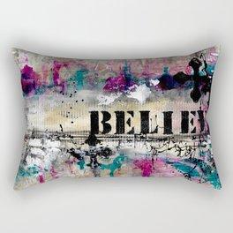 Believe Abstract Rectangular Pillow