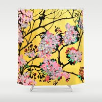 blossom Shower Curtains featuring Blossom by marlene holdsworth