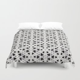 Modern abstract tiny triangle shaped lace modern abstract pattern Duvet Cover