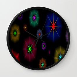 COLORFUL STARS Wall Clock