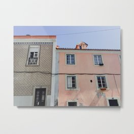 Streets of Lisbon, Portugal | Travel photography of old town in pastel colored city | art print Metal Print