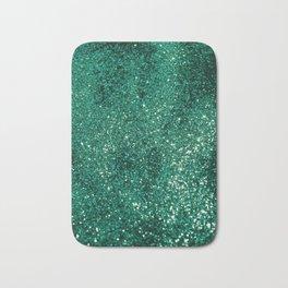 Sparkling EMERALD Lady Glitter #1 #shiny #decor #art #society6 Bath Mat