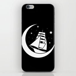 moon boat iPhone Skin