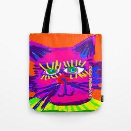 Pop Art Cat Head Tote Bag