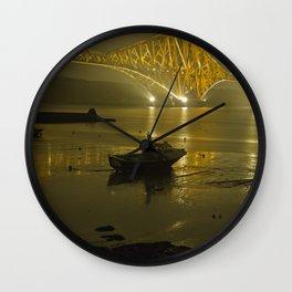 Forth Road Bridge, at night Wall Clock