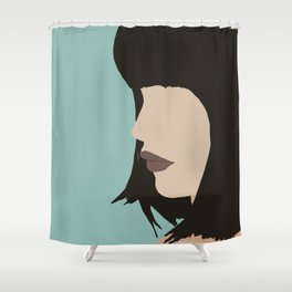 Cara - a modern, minimal abstract portrait of a woman Shower Curtain