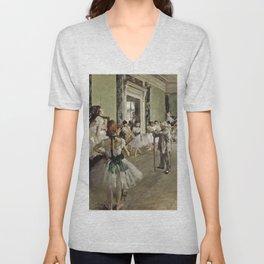 Edgar Degas - The Ballet Class Unisex V-Neck