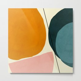 shapes geometric minimal painting abstract Metal Print