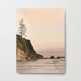 Lone Tree Sunset, Short Sands Beach, Oregon Coast Metal Print