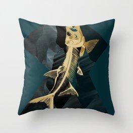 Catch the golden fish Throw Pillow