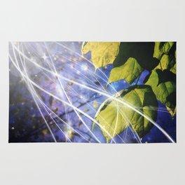 Leaves Dancing in the Magic of Night Rug