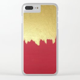 Dipped in Gold Clear iPhone Case