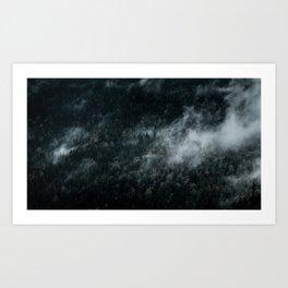 Dark Foggy Forests Art Print