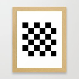 Checkerboard (LF) - (Collection Black & White) Framed Art Print