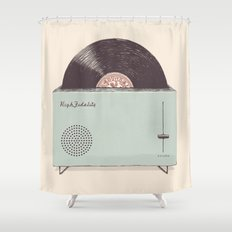High Fidelity Toaster Shower Curtain