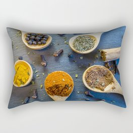 Herb and Spices. Rectangular Pillow