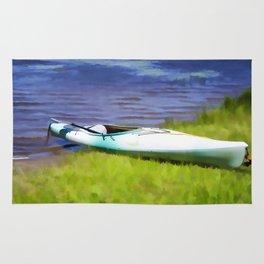 Kayak in Upstate NY Rug