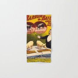 Vintage poster - Trained pigs Hand & Bath Towel