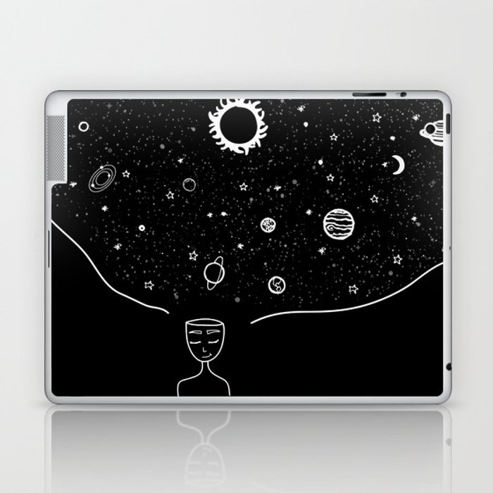 Galaxy in your Mind Laptop & iPad Skin