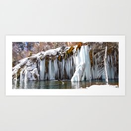 Hanging Lake Frozen Art Print