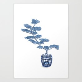 Indigo bonsai tree Art Print