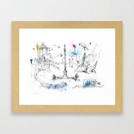 Trafalgar Square  Framed Art Print