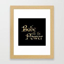 Labyrinth Babe With The Power (black bg) Framed Art Print