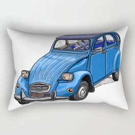 Blue 2CV Rectangular Pillow