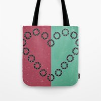 aperture Tote Bags featuring aperture heart by lizbee