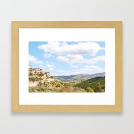 Rolling Hills of Tuscany Framed Art Print