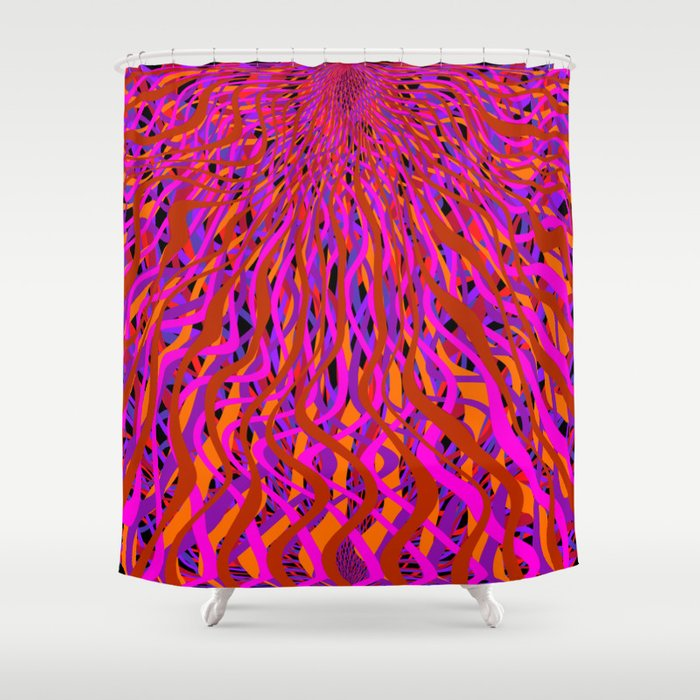 rise and fall Shower Curtain